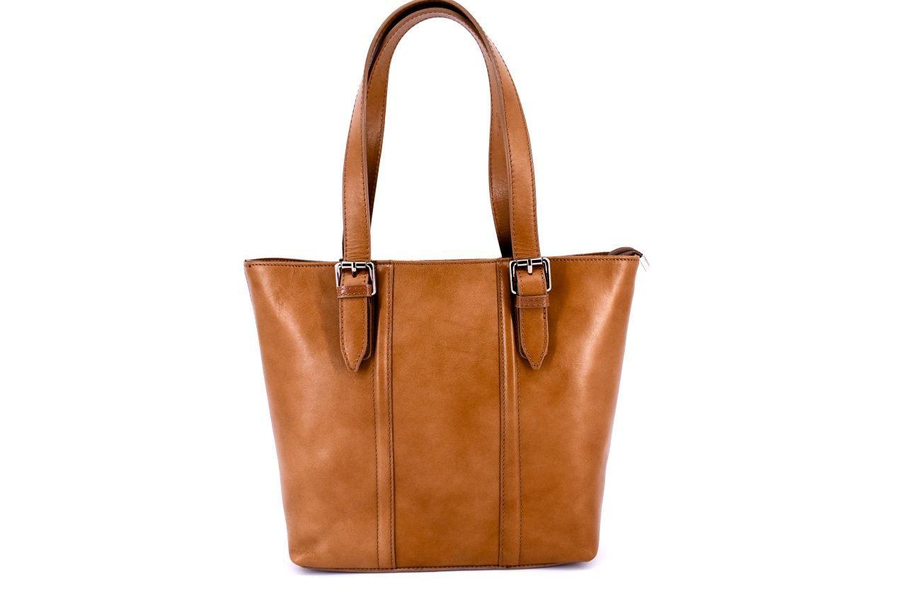 Dámská kožená kabelka Arteddy - béžová 31028