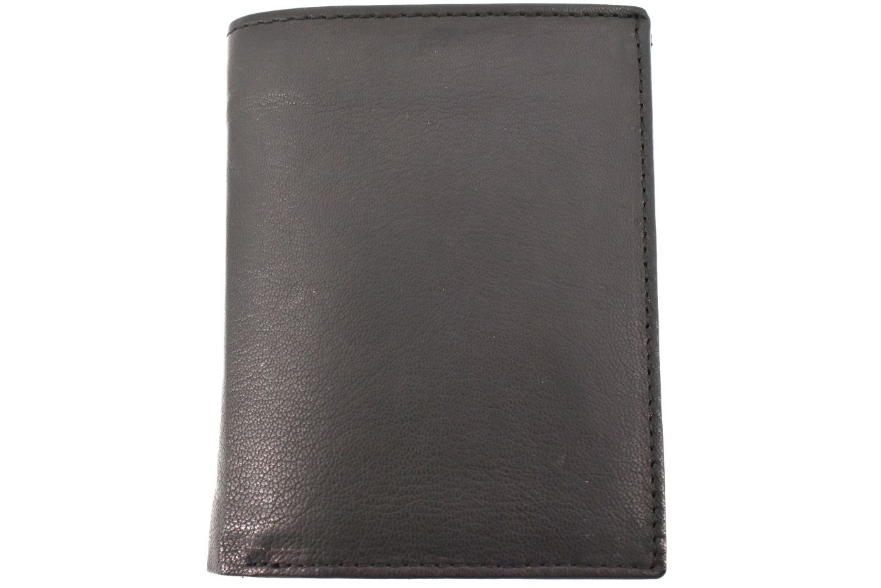 Pánská kožená peněženka na výšku Arteddy - tmavě hnědá 35292