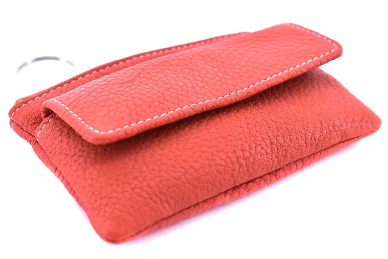 Dámské / pánská kožená klíčenka Arteddy - světle červená