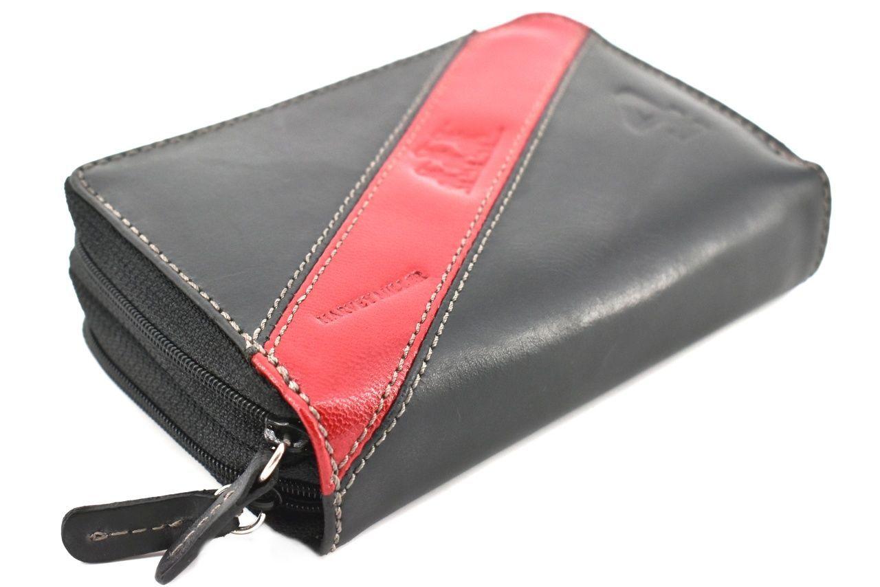 Dámská kožená peněženka pouzdrového typu Harvey Miller - černá 26183