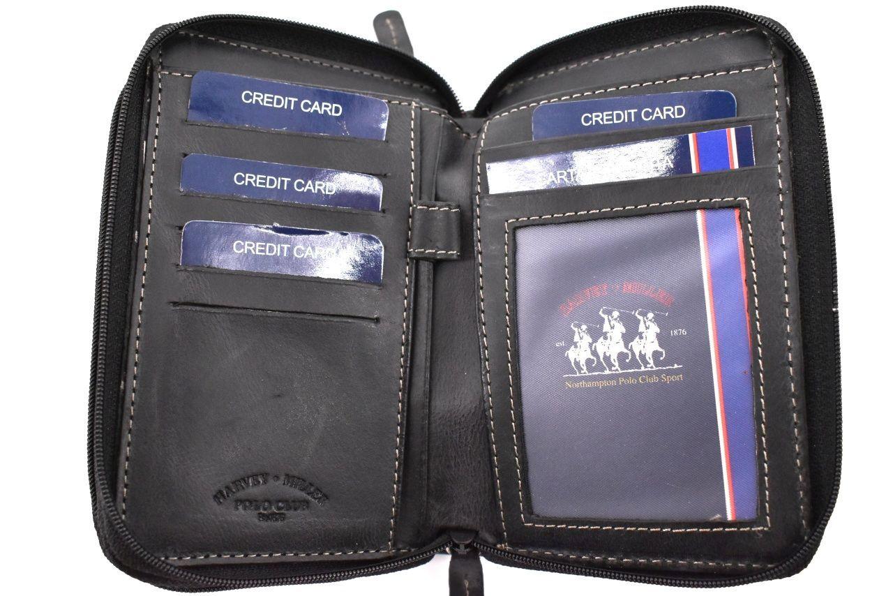 Dámská kožená peněženka pouzdrového typu Harvey Miller - žlutá 26183