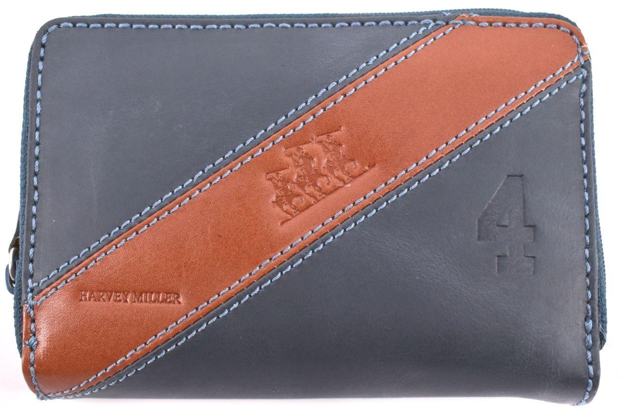 Dámská kožená peněženka pouzdrového typu Harvey Miller - tmavě modrá 26183