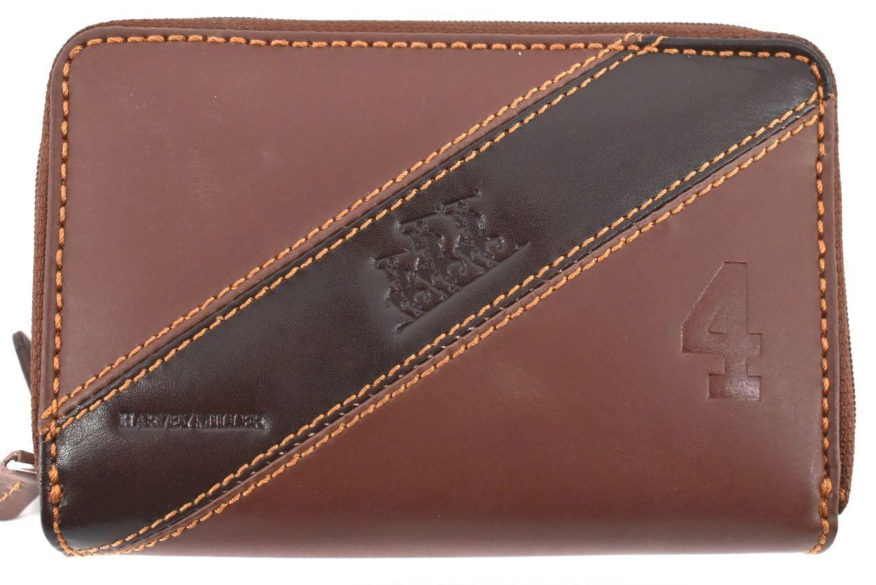 Dámská kožená peněženka pouzdrového typu Harvey Miller - hnědá 26183
