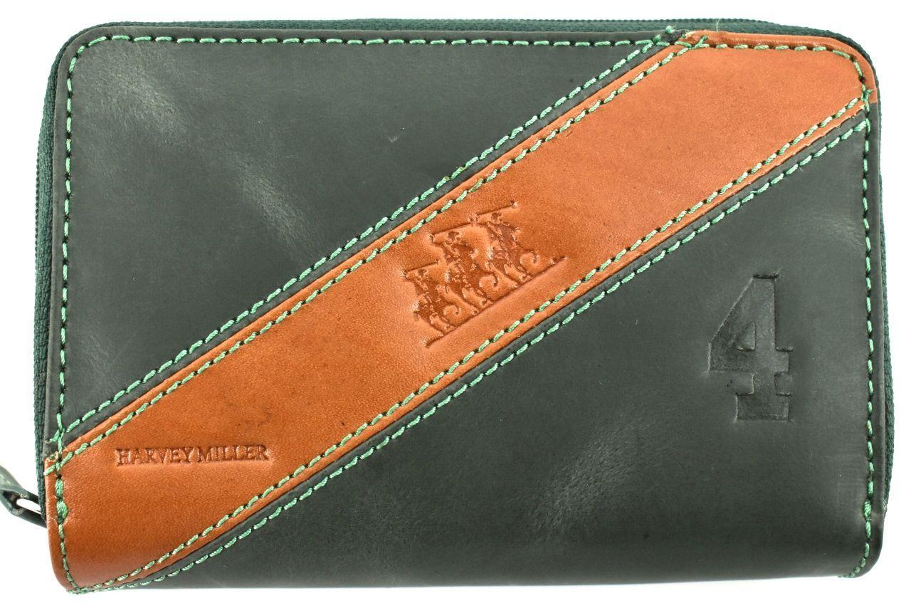 Dámská kožená peněženka pouzdrového typu Harvey Miller - zelená 26183