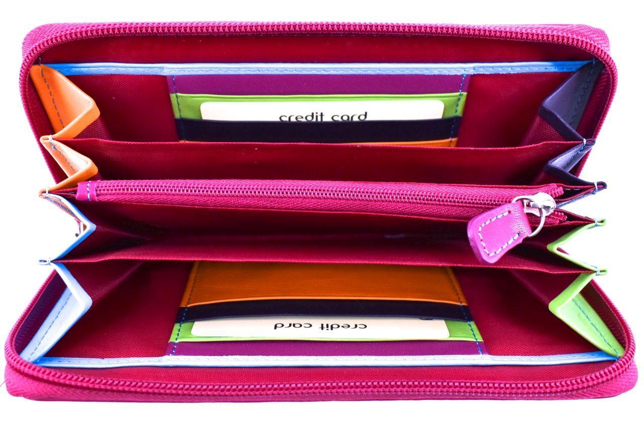 Dámská kožená peněženka pouzdrového typu Arteddy - fuxia 25428