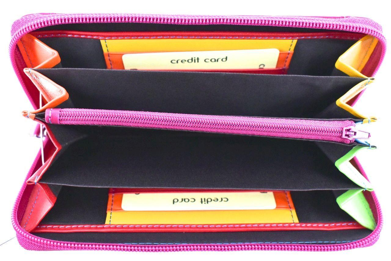 Dámská kožená peněženka pouzdrového Arteddy - oranžová 32198