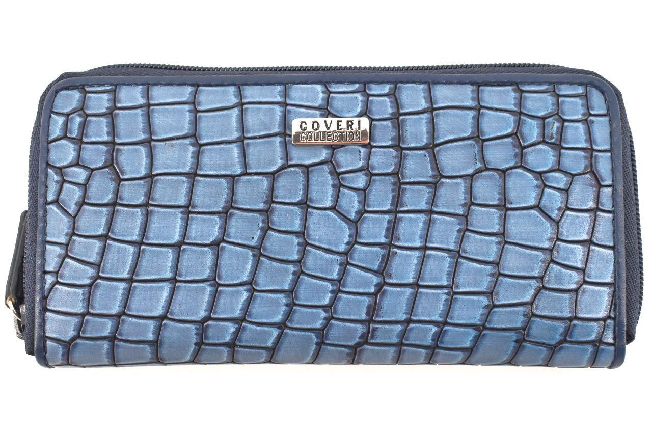 Dámská peněženka puzdrového typu Coveri - modrá 32153