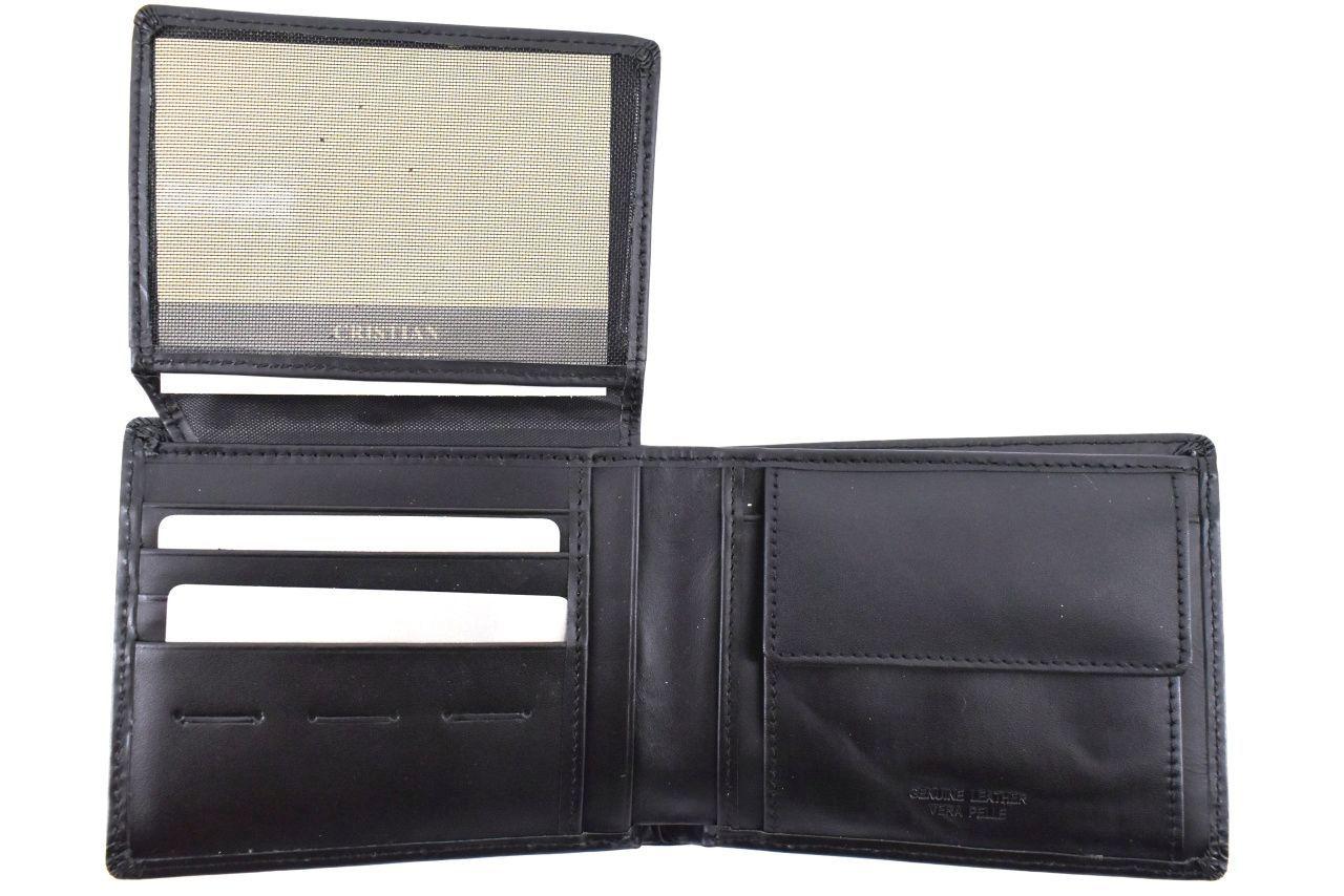 Pánská kožená peněženka Cristian Conte - černá 33300