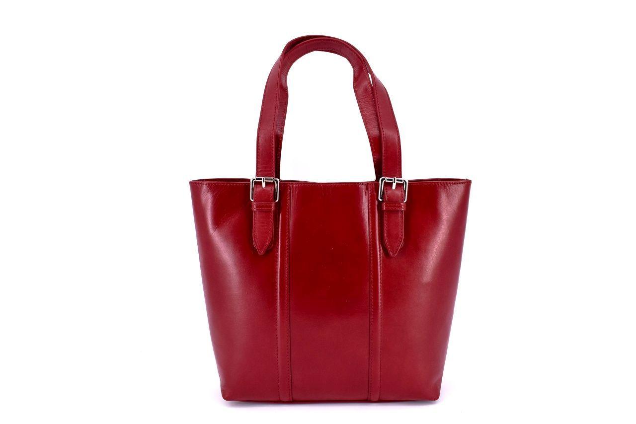 Dámská kožená kabelka Arteddy - vínová 31028