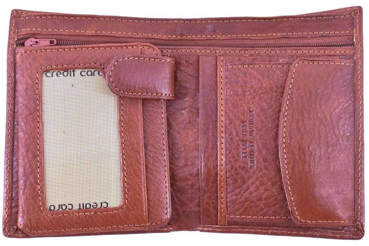 Pánská kožená peněženka na výšku Arteddy - hnědá 32208