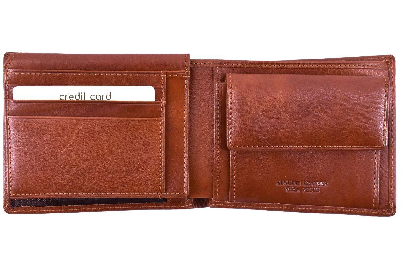 Pánská kožená peněženka na šířku Arteddy - černá 32210