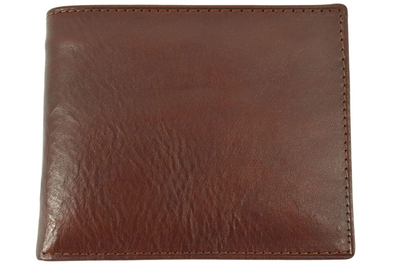 Pánská kožená peněženka na šířku Arteddy - tmavě hnědá 32210