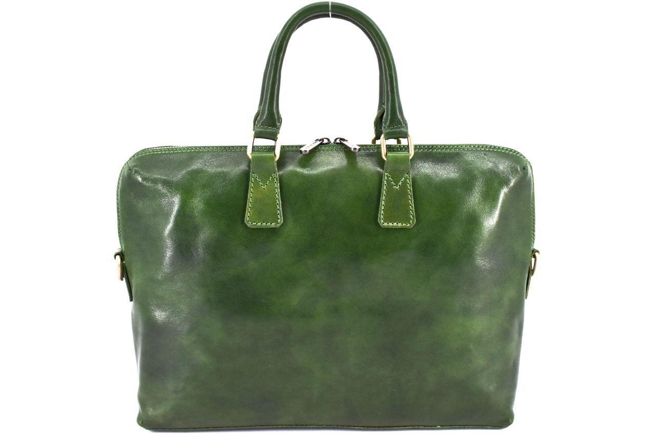 Dámská kožená kabelka Arteddy - zelená 29630