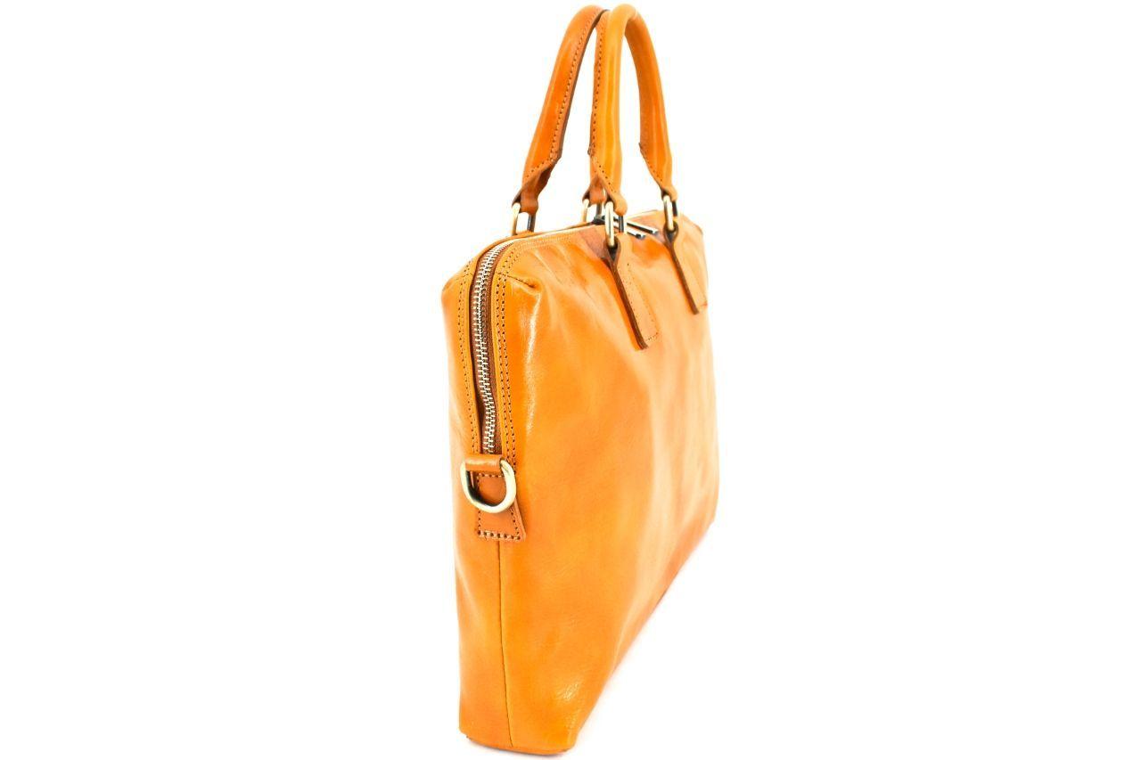 Dámská kožená kabelka Arteddy - tmavě hnědá 29630