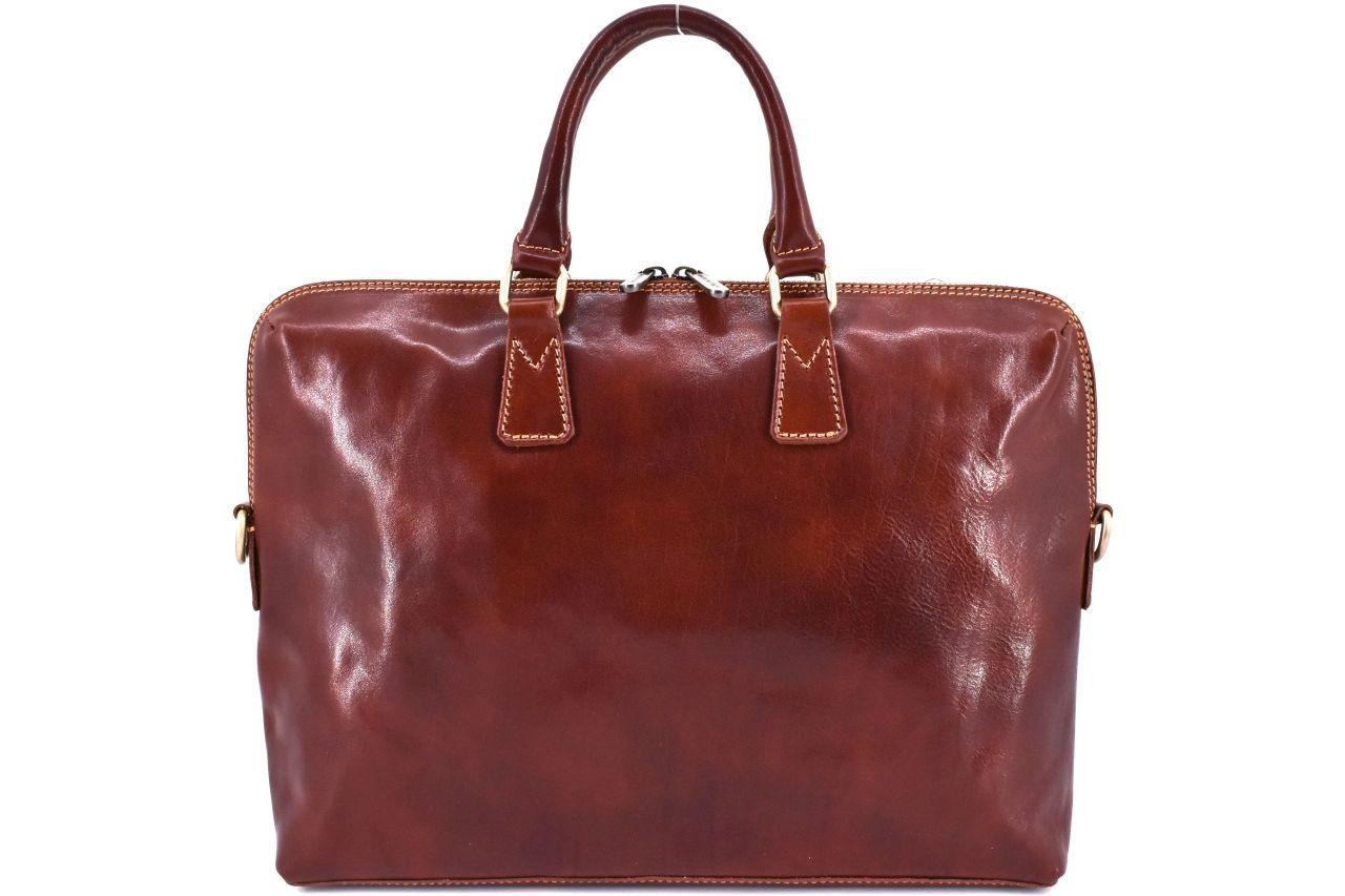 Dámská kožená kabelka Arteddy - hnědá 29630