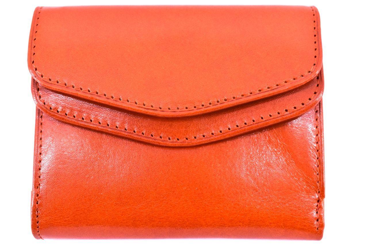 Levně Dámská kožená peněženka Arteddy- oranžová