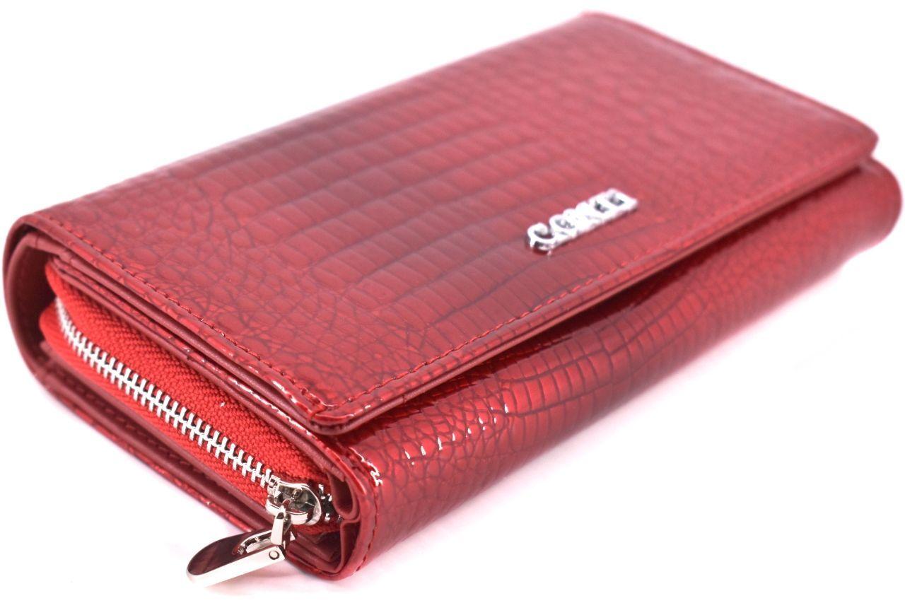 Dámská kožená lakovaná peněženka CONTI - černá 38906