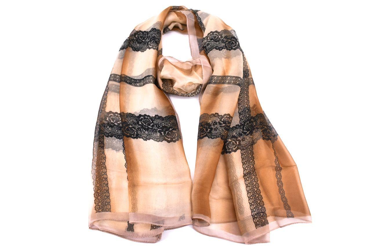 Dámský hedvábný šátek Arteddy - béžová