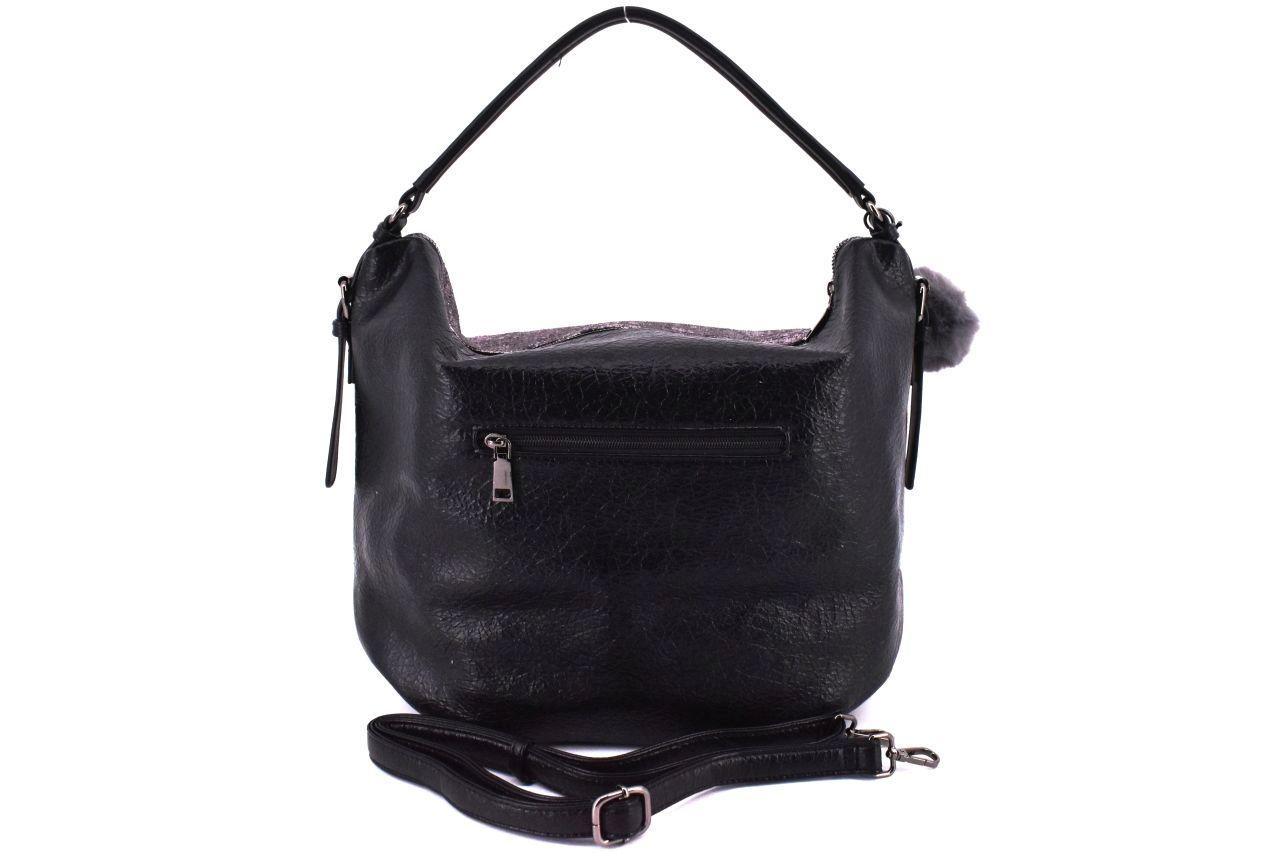 Dámská kabelka Tommasini s přívěskem pompon - stříbrná 38763