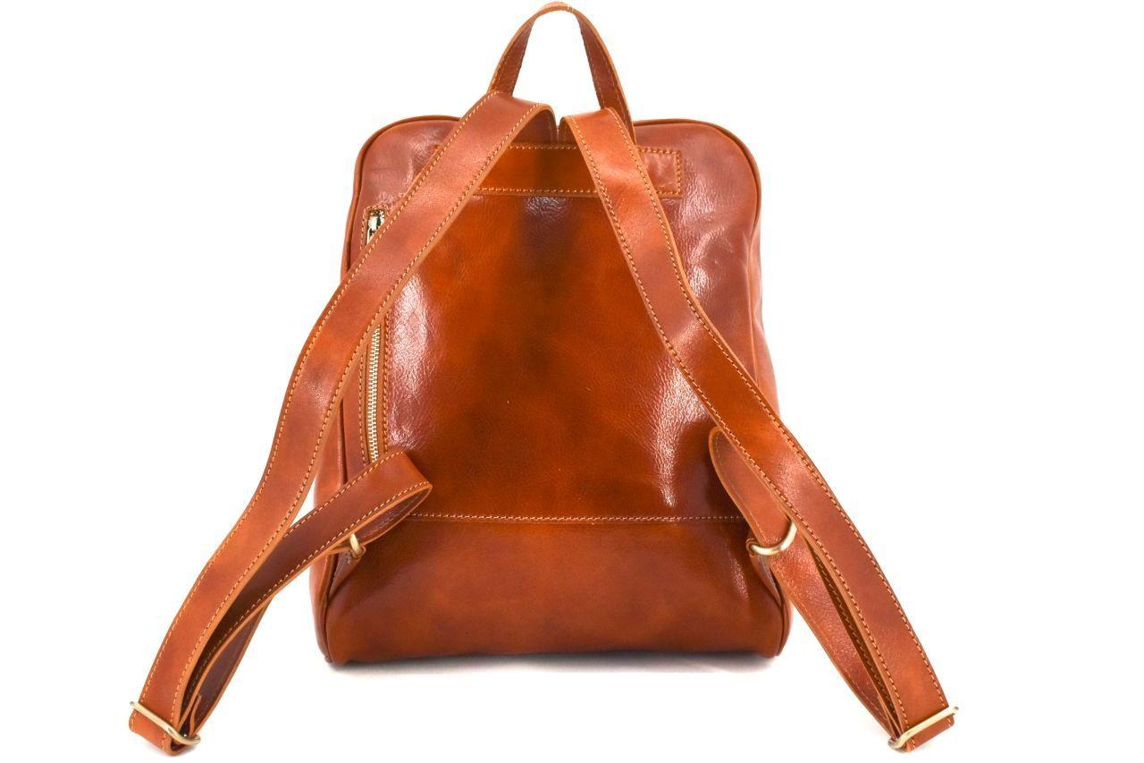 Dámský kožený batoh Arteddy - červená 37155