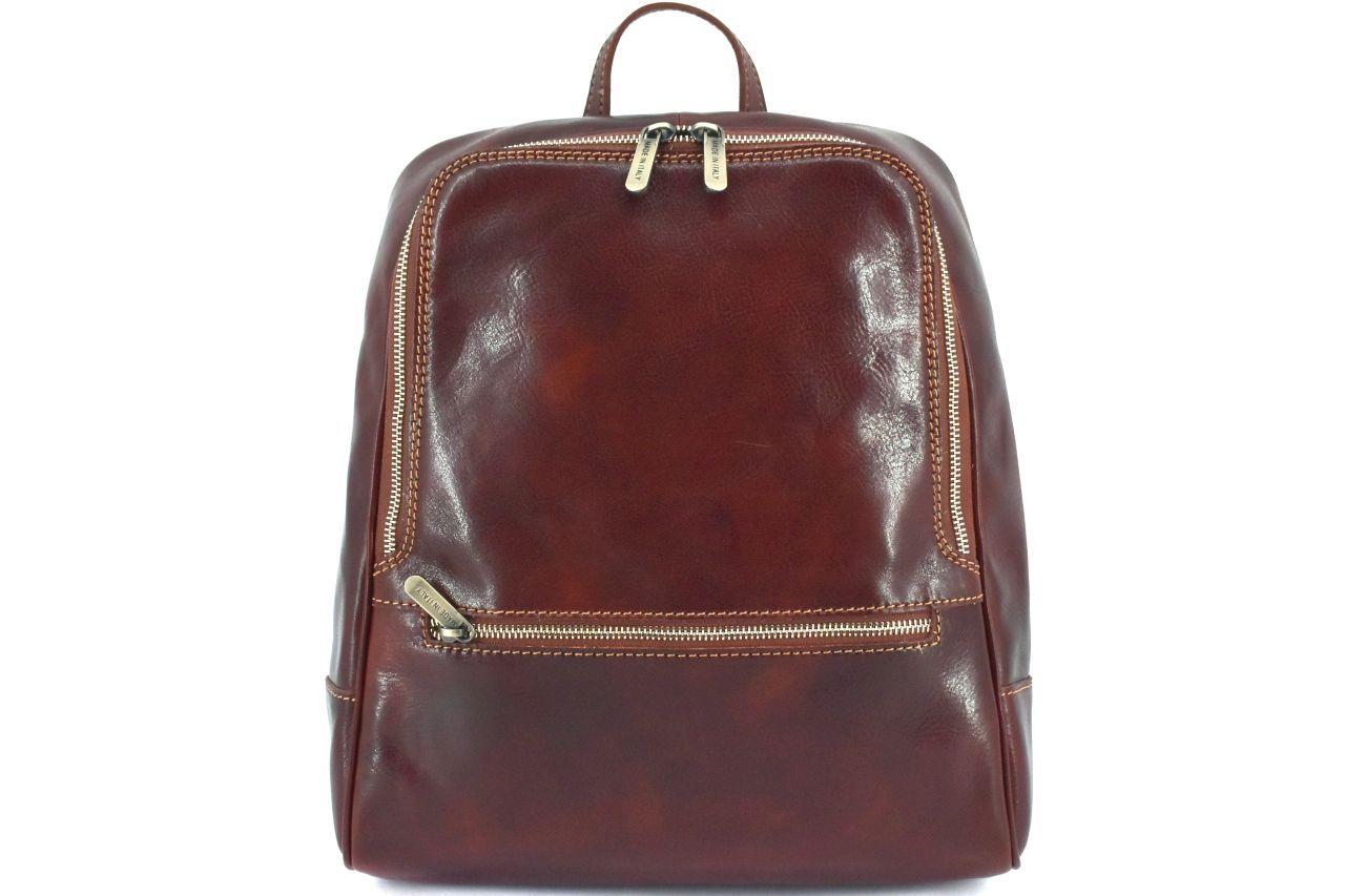 Dámský kožený batoh Arteddy - hnědá 37155