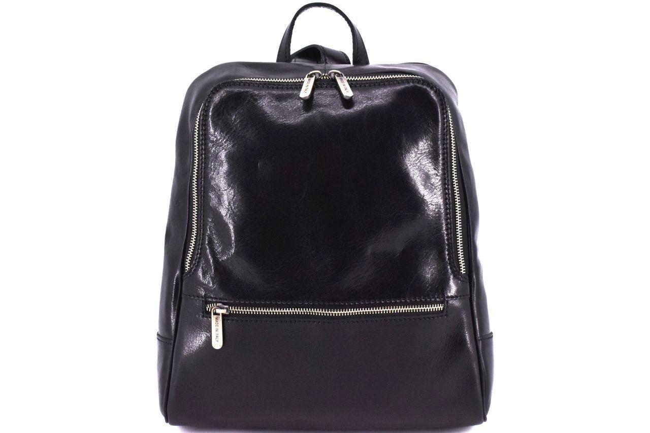 Dámský kožený batoh Arteddy - černá
