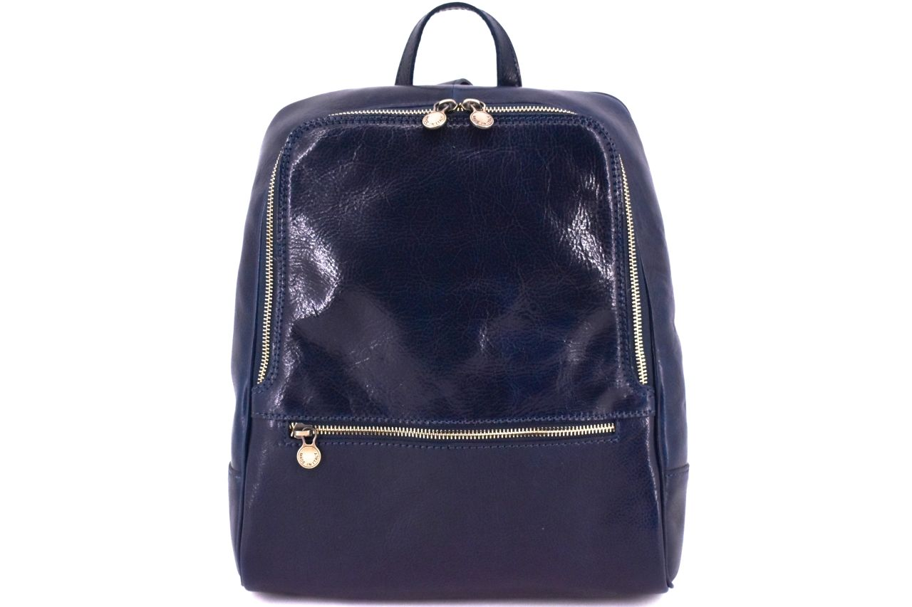 Dámský kožený batoh Arteddy - tmavě modrá 37155