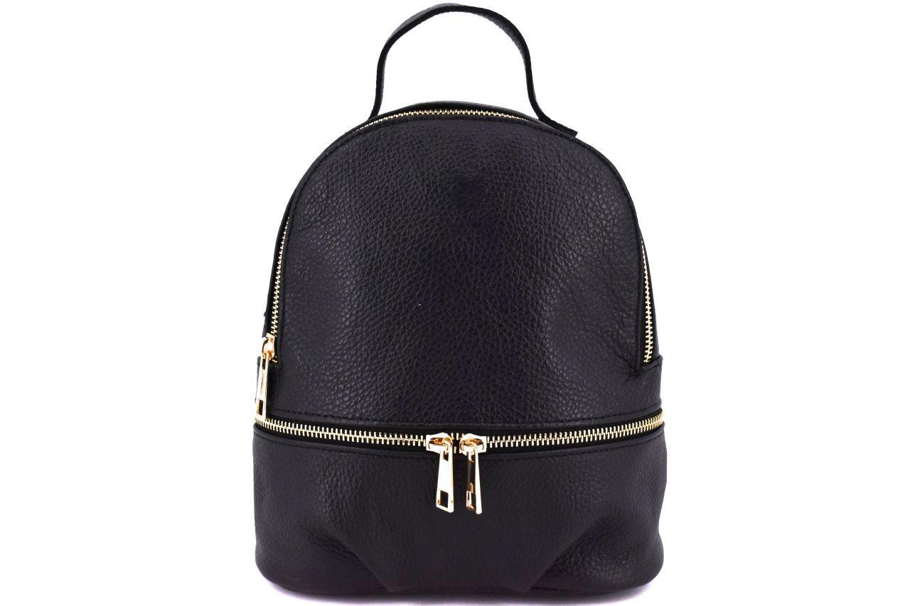 Dámský/dívčí kožený batůžek Arteddy - černá