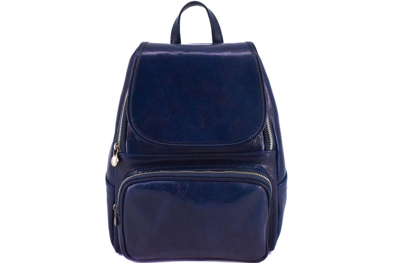 Dámský kožený batoh Arteddy - tmavě modrá 37156