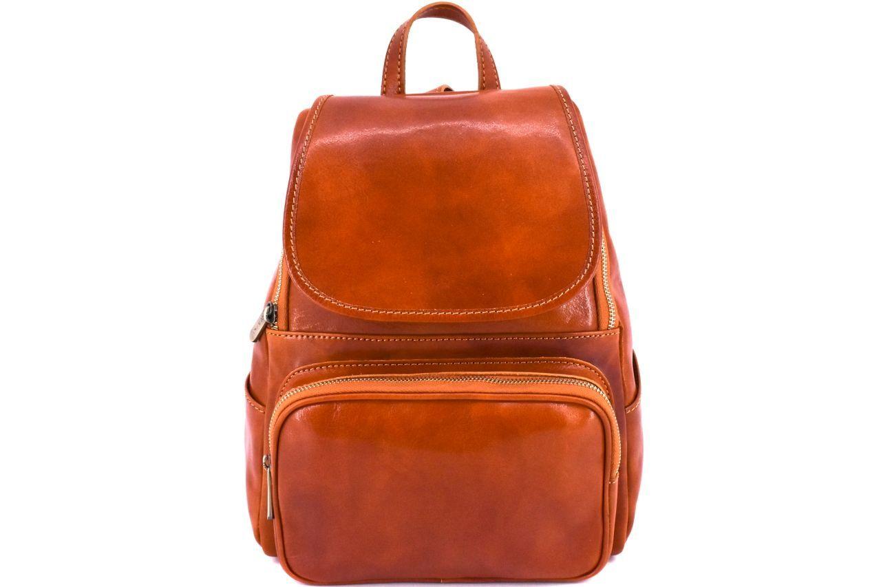 Dámský kožený batoh Arteddy - koňak 37156