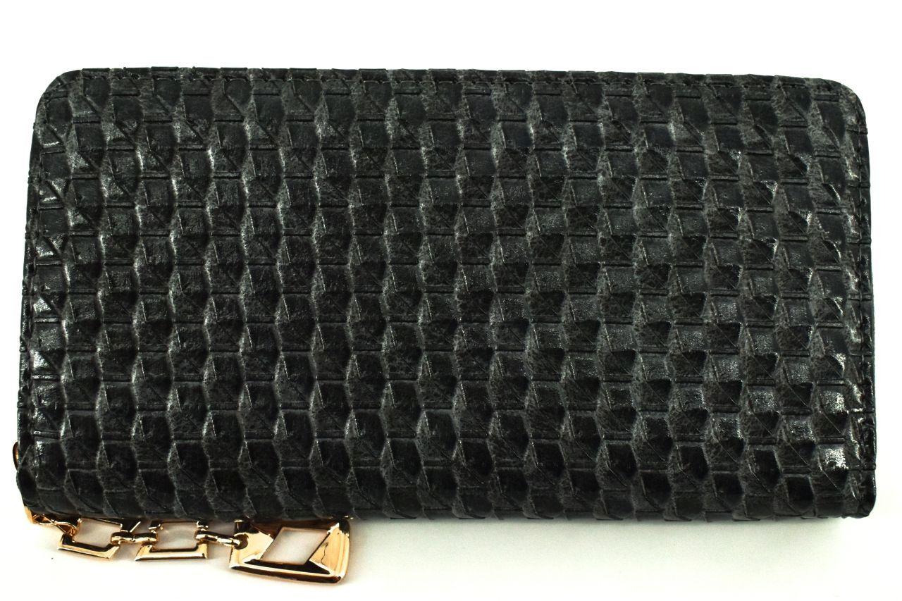 Dámská / dívčí peněženka pouzdrového typu - černá 30876