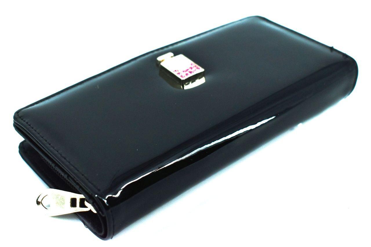 Dámská / dívčí lakovaná peněženka - černá 30879