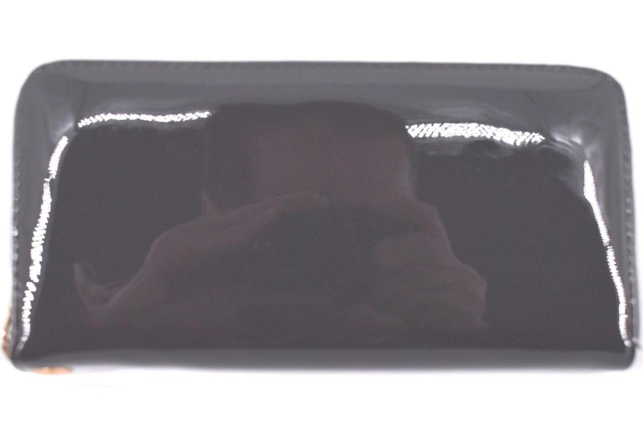 Dámská / dívčí lakovaná peněženka  pouzdrového typu - šedá