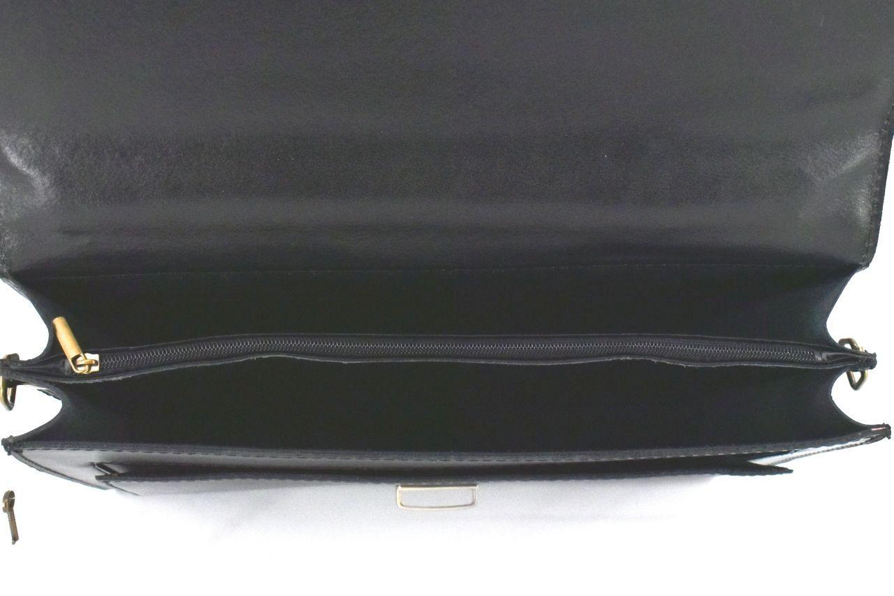 Kožená aktovka Arteddy - 2 komorová černá 1241