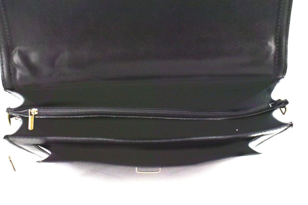 Kožená aktovka Arteddy - 2 komorová černá