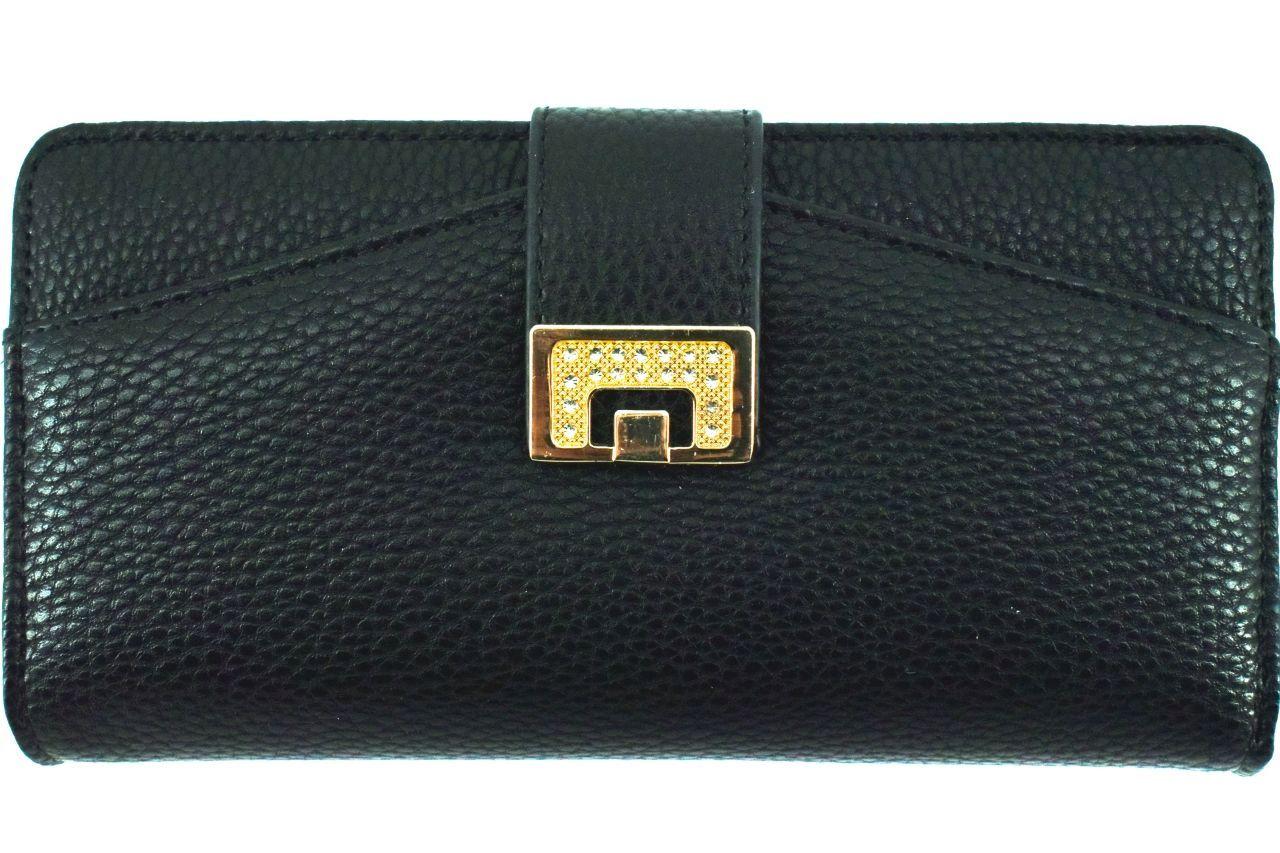 Dámská peněženka z ekokůže - černá 30884