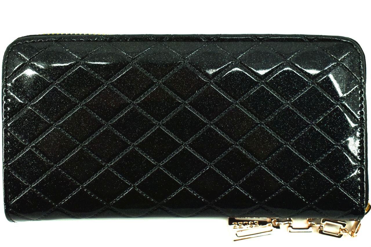 Dámská / dívčí lakovaná peněženka pouzdrového typu Eslee - tmavě modrá 38920