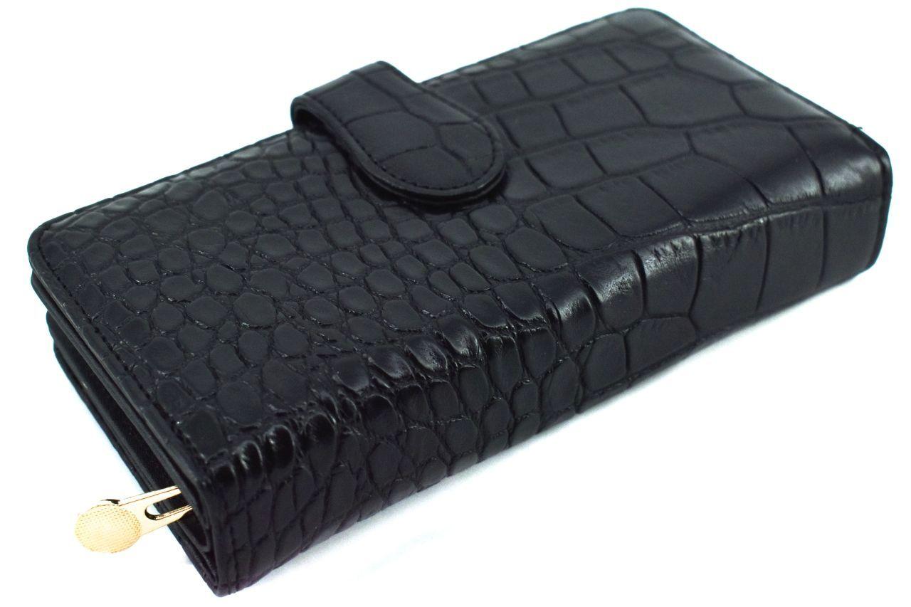 Dámská peněženka kroko - černá 38942