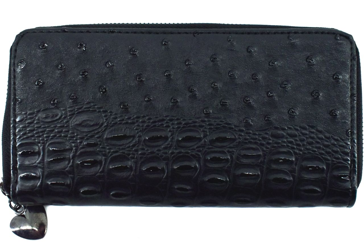 Dámská / dívčí peněženka pouzdrového typu kroko - černá 26580