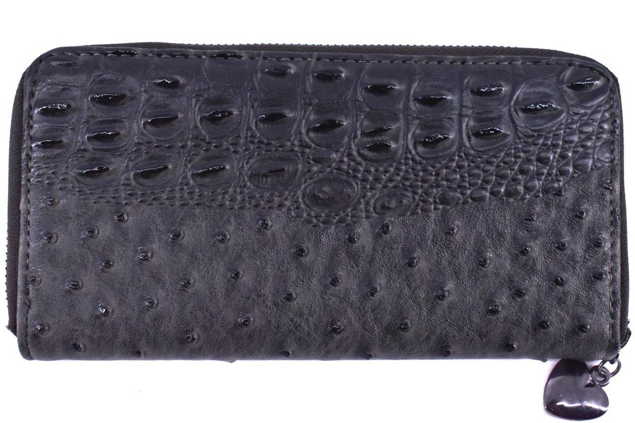 Dámská / dívčí peněženka pouzdrového typu kroko - šedá 26580