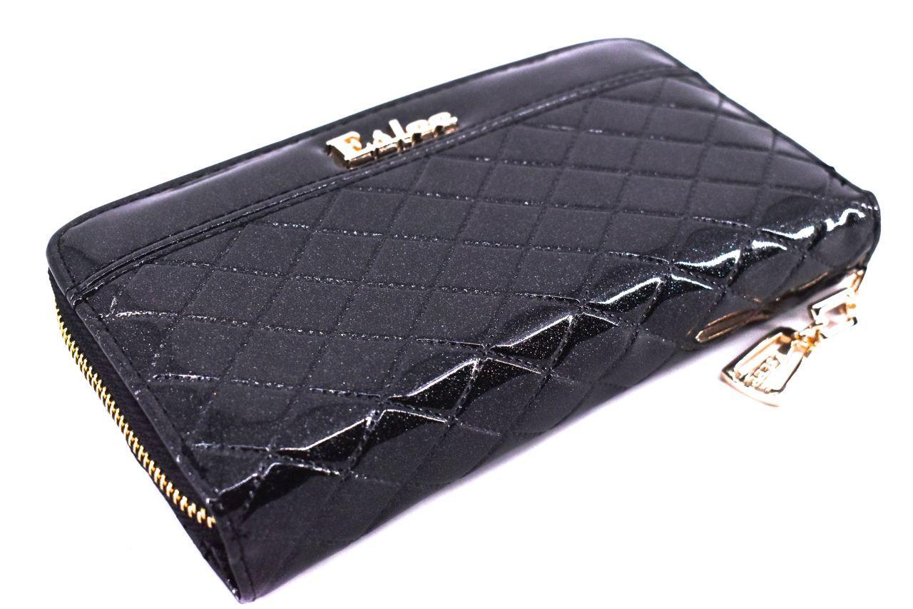 Dámská / dívčí lakovaná peněženka pouzdrového typu Eslee - černá 38929
