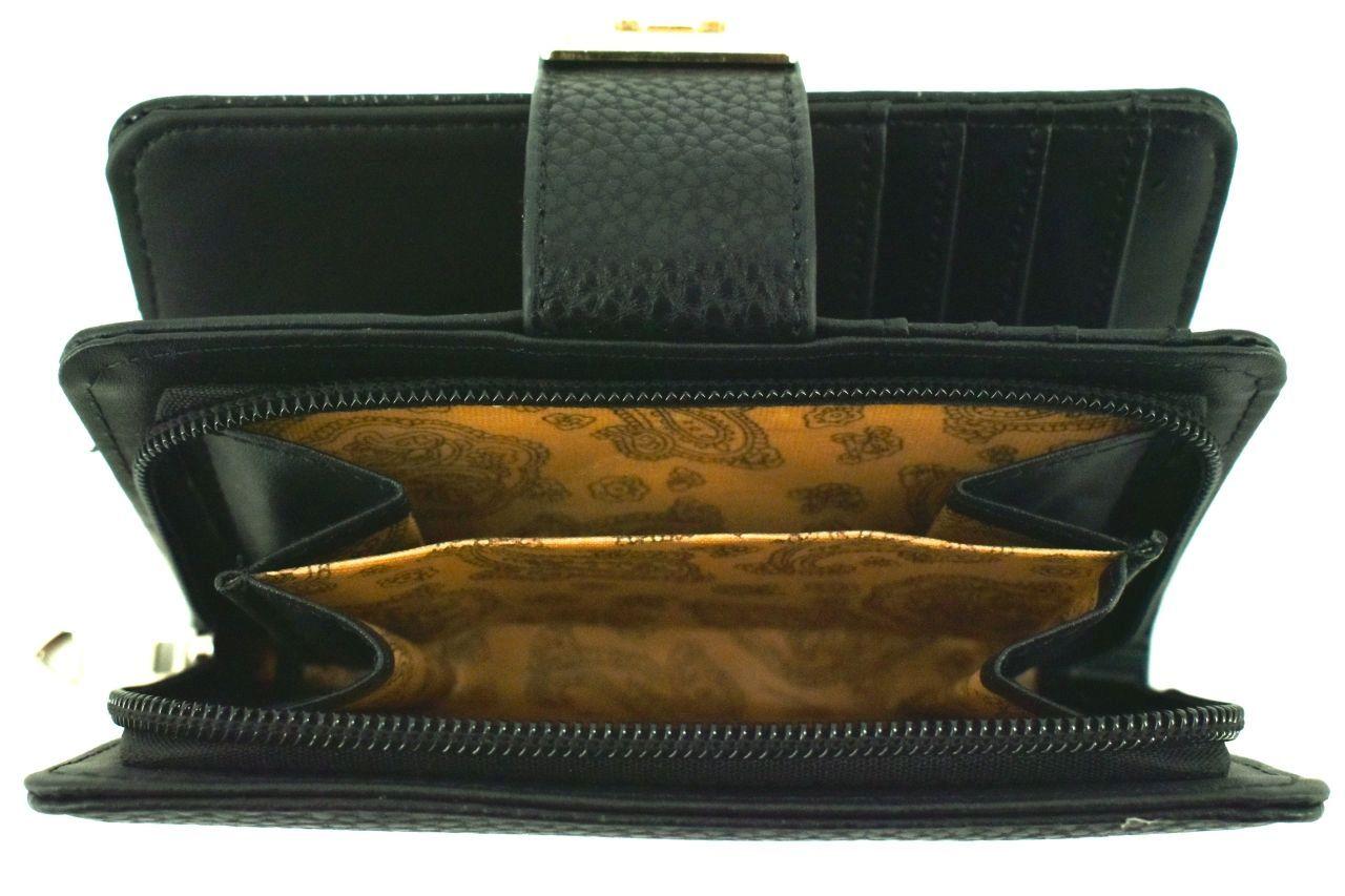 Dámská/dívčí peněženka se zápinkou - černá 30882