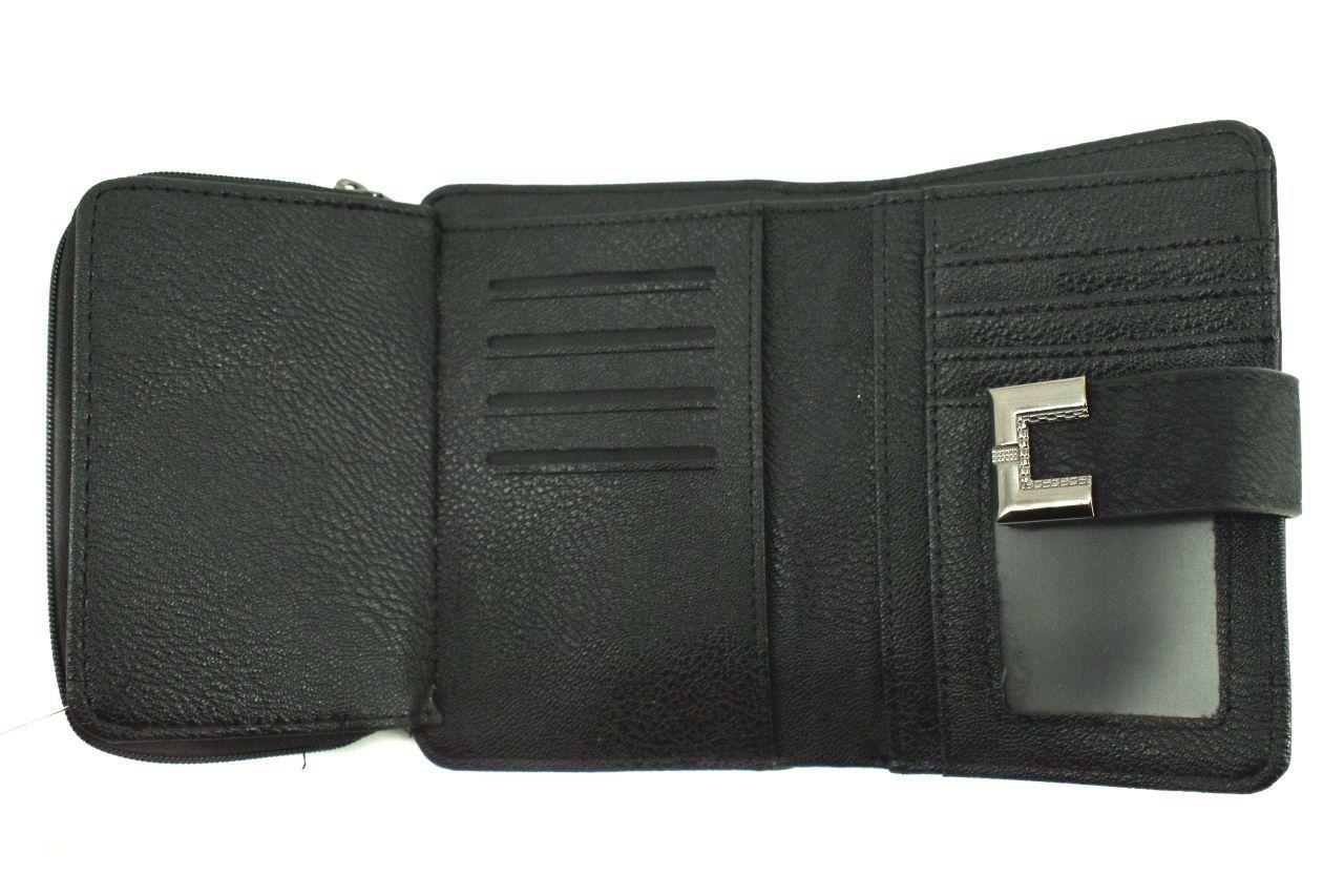 Dámská/dívčí peněženka se zápinkou - černá 33851