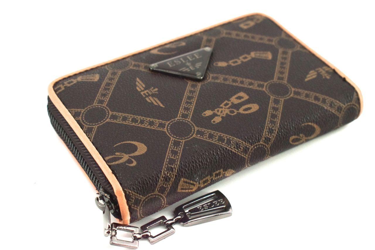 Dámská/dívčí peněženka pouzdrového typu Eslee - tmavě hnědá 38229