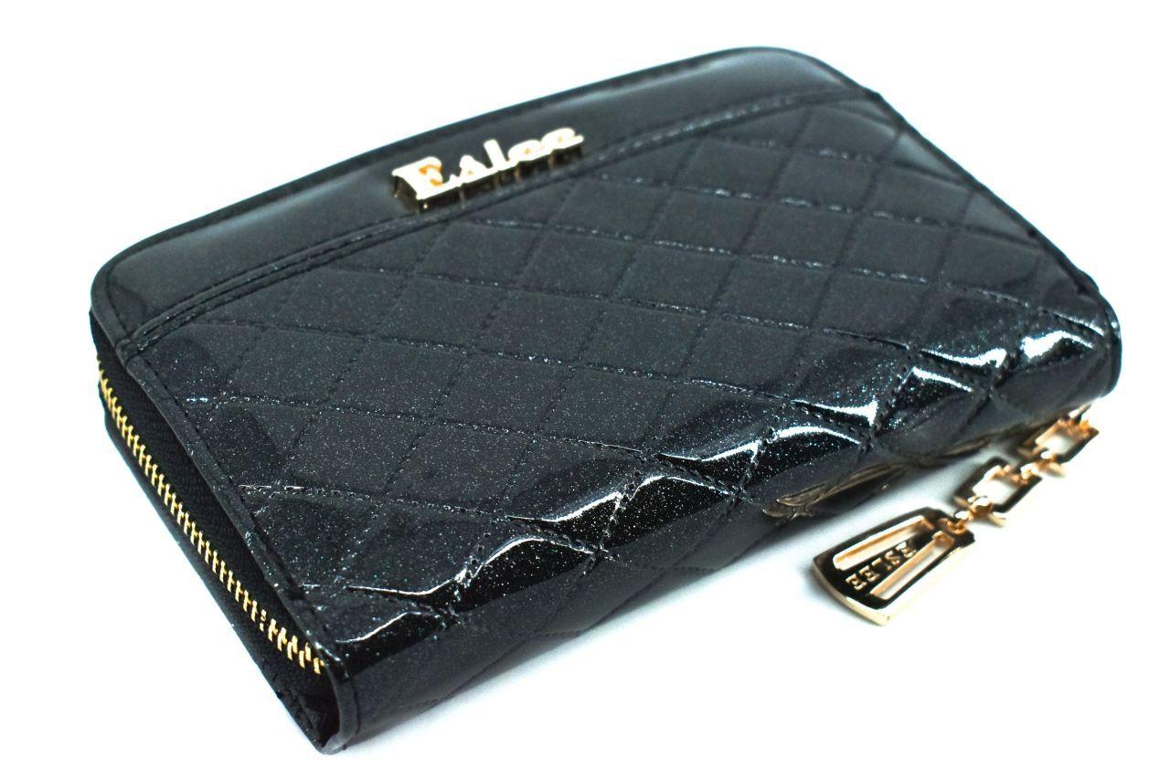 Dámská/dívčí lakovaná peněženka Eslee - černá 38932