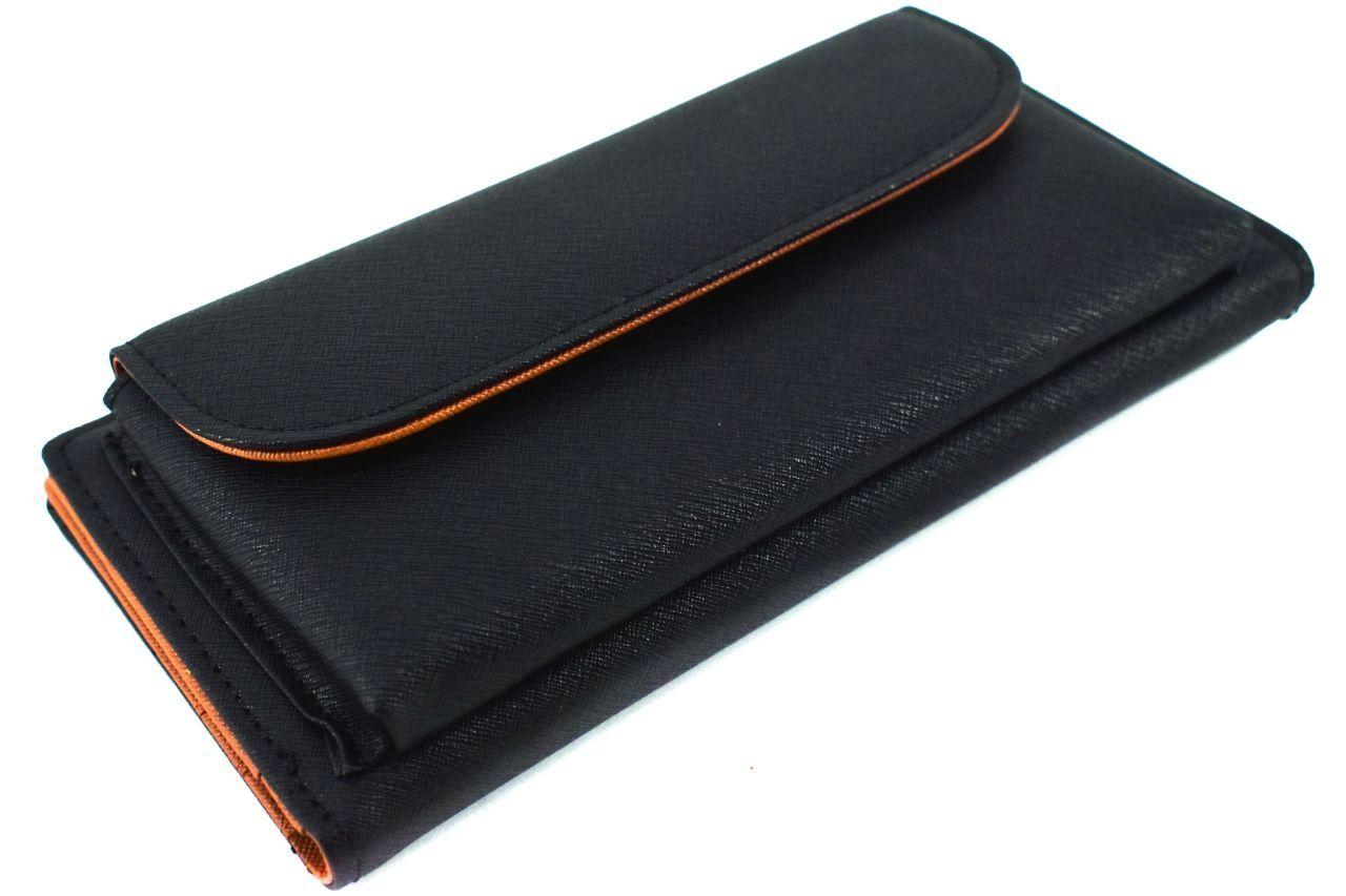 Dámská/dívčí peněženka na šířku - černá 30880