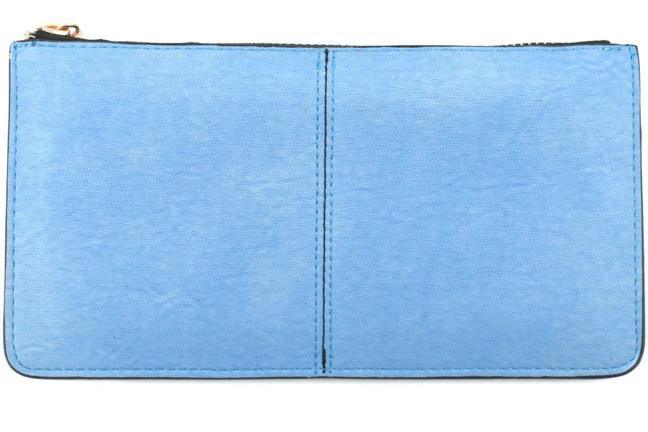 Dámská/dívčí peněženka a kabelka v jednom - světle modrá 32100
