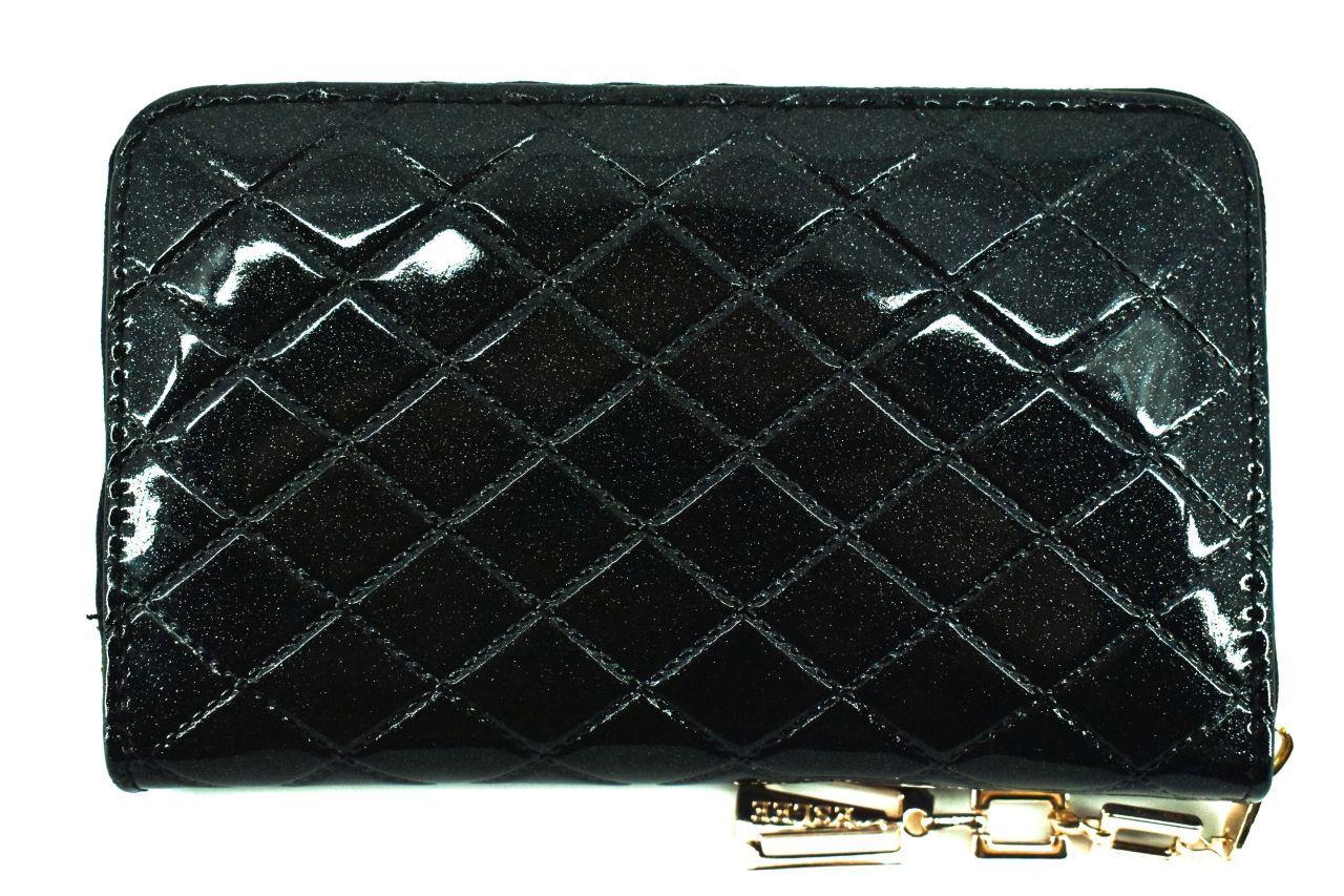 Dámská / dívčí lakovaná peněženka pouzdrového typu Eslee - černá 38937
