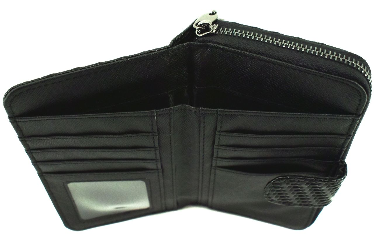 Dámská / dívčí lakovaná peněženka - černá 38939