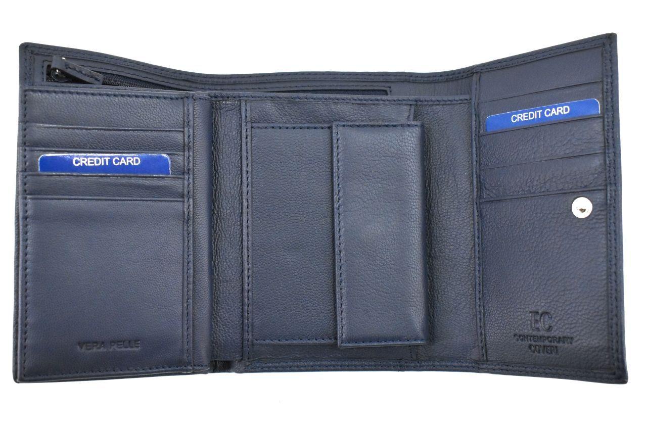 Dámská kožená peněženka Coveri - tmavě modrá 37102